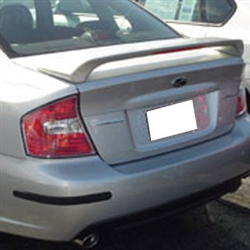 Subaru Legacy Sedan Painted Rear Spoiler (with light), 2005, 2006, 2007, 2008, 2009
