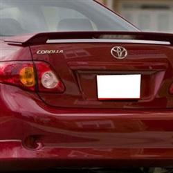 Toyota Corolla 2 Post Painted Rear Spoiler (with light), 2009, 2010, 2011, 2012, 2013
