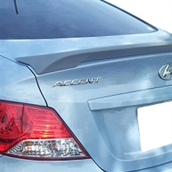 Hyundai Accent Sedan Lip Mount Painted Rear Spoiler, 2012, 2013, 2014, 2015, 2016, 2017