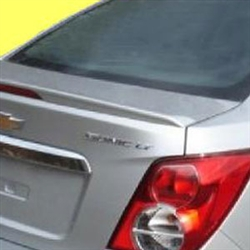 Chevrolet Sonic Flush Mount with light Painted Rear Spoiler, 2012, 2013, 2014, 2015, 2016, 2017