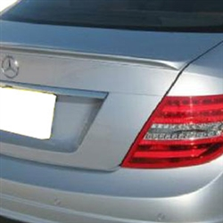 Mercedes C Class Coupe Painted Rear Spoiler, 2012, 2013, 2014