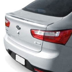 Kia Rio Sedan Flush Mount Painted Rear Spoiler, 2012, 2013, 2014, 2015, 2016, 2017