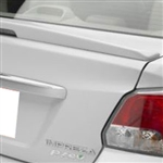 Subaru Impreza Sedan Painted Rear Spoiler (with light), 2012, 2013, 2014, 2015, 2016