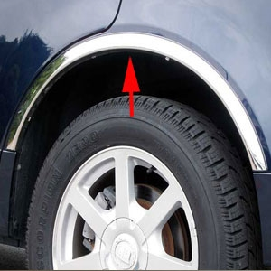 Ford Explorer Chrome Wheel Well Fender Trim, 2002, 2003, 2004, 2005