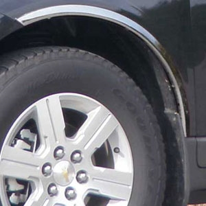 Chevrolet Traverse Chrome Wheel Well Fender Trim, 2009, 2010, 2011, 2012, 2013, 2014, 2015, 2016, 2017