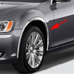 Chrysler 300 Chrome Wheel Well Fender Trim, 2011, 2012, 2013, 2014, 2015, 2016, 2017