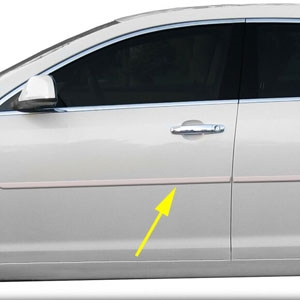 Chevrolet Malibu Painted Body Side Moldings, 2008, 2009, 2010, 2011, 2012
