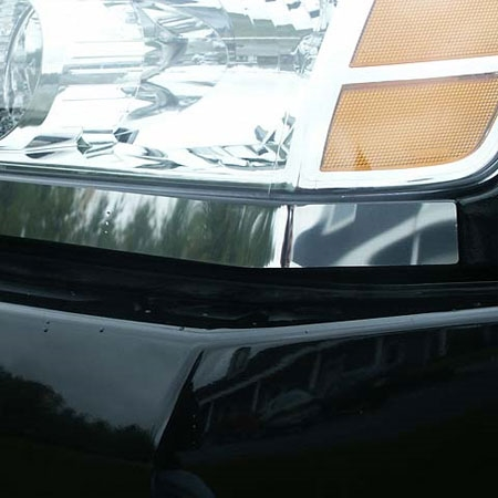 Nissan Titan Chrome Headlight Trim 2pc Set 2004 2005