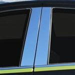Toyota Prius C Chrome Pillar Post Trim, 2012, 2013, 2014, 2015, 2016, 2017