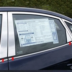 Hyundai Elantra Chrome Pillar Post Trim, 6pc  2007 - 2010