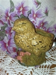 Darling Primitive Chippy Yellow Chick Planter Chirp Chirp So Sweet