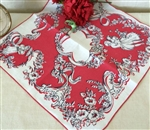Faint Hearts Never Won Fair Lady Vintage Handkerchief Perfect Valentine Hankie Tags