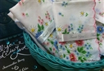 12 NEW Ladies Hankies All Daisies & Forget me Nots Blue Pink Yellow