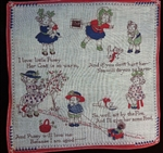Early 1900s Grace Drayton Nursery Rhyme Handkerchief Dolly Dingles Gollywog