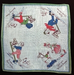 Early 1900s Grace Drayton Nursery Rhyme Handkerchief Sweet Children