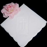 All White Hankie HOLY BIBLE Communion Confirmation Easter