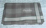 Personalized Handkerchief for GRANDPA Taupe Plaid