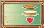 I Love Your Apple Pie Frosted Cake 1910 Unused Valentine Postcard