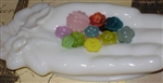 15 Pretty Little Flower Buttons Assorted Colors Crafts