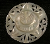 Bethlehem Carved Mother of Pearl Vintage Button XLG Round Rose