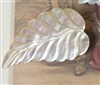 A Vintage Carved Mother of Pearl Button Huge Leaf Just Gorgeous