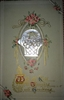 A Vintage Carved Mother of Pearl MOP Button Victorian Flower Easter May Basket