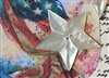 A Vintage Carved Mother of Pearl MOP Button Beautiful Classic 5 Point Star 1.25 inch