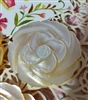 A Vintage Carved Mother of Pearl MOP ROSE Button w/ Shank Beauty 1in