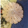A Vintage Carved Mother of Pearl MOP Button Large Sunflower Look