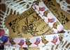 French Jacquard Ribbon Bohemian Love Birds Colorful .5 Inch 1 Yard
