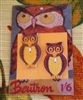 OWL Vintage Button Card 2 Wooden Owl Buttons Fab Fall Display