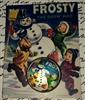 Crystal Dome Button Most Adorable FROSTY the SNOWMAN