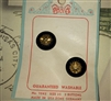 US ZONE GERMANY Stunning Black & Gold Glass Buttons Original Card