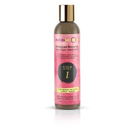 Naturalicious Step 1:  Moroccan Rhassoul 5-in-1 Clay Treatment (For Medium to Loose Curls + Waves) 8oz