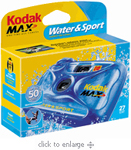 Make a splash...and don't worry about it! This Kodak disposable camera is waterproof to 50 feet!