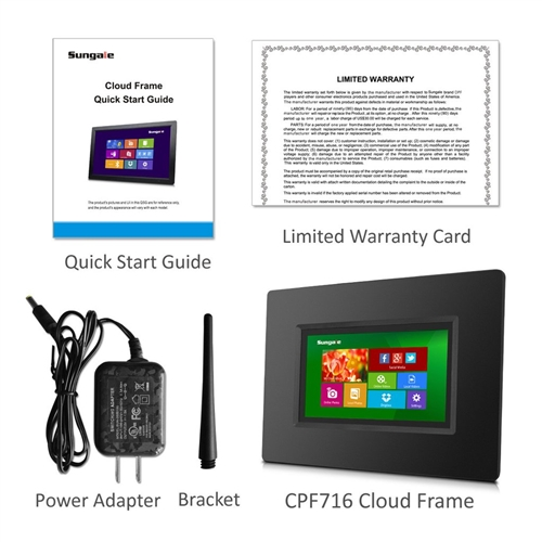7 inch Smart WiFi Cloud Digital Photo Frame with Built-in Battery ...