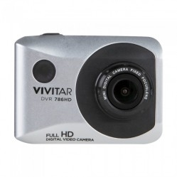 DVR 786HD Waterproof ActionCam- includes bike/AVT mount (Silver)