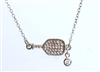 sterling and crystal pickleball necklace