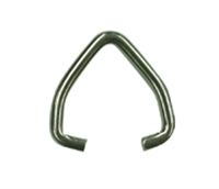 D Ring Stainless Steel Clip for Baton or Wand