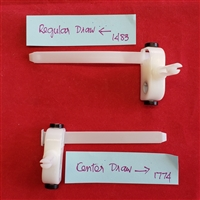 "3 1/2"" REGULAR  or CENTER Draw Vertical Carriers, Plastic Arm Connectors"