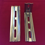 Heavy Duty Wall Extension Brackets for Vertical PVC.  Plated Silver