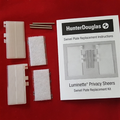End Treatment Swivel Plates SET for Luminette. Hunter Douglas