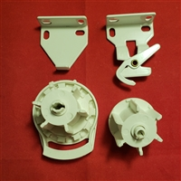 SET: SHORT Clutch + End Plug + Brackets for Roller Screen Shade.  L