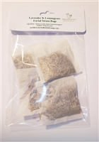 Lavender and Lemongrass facial steam bags