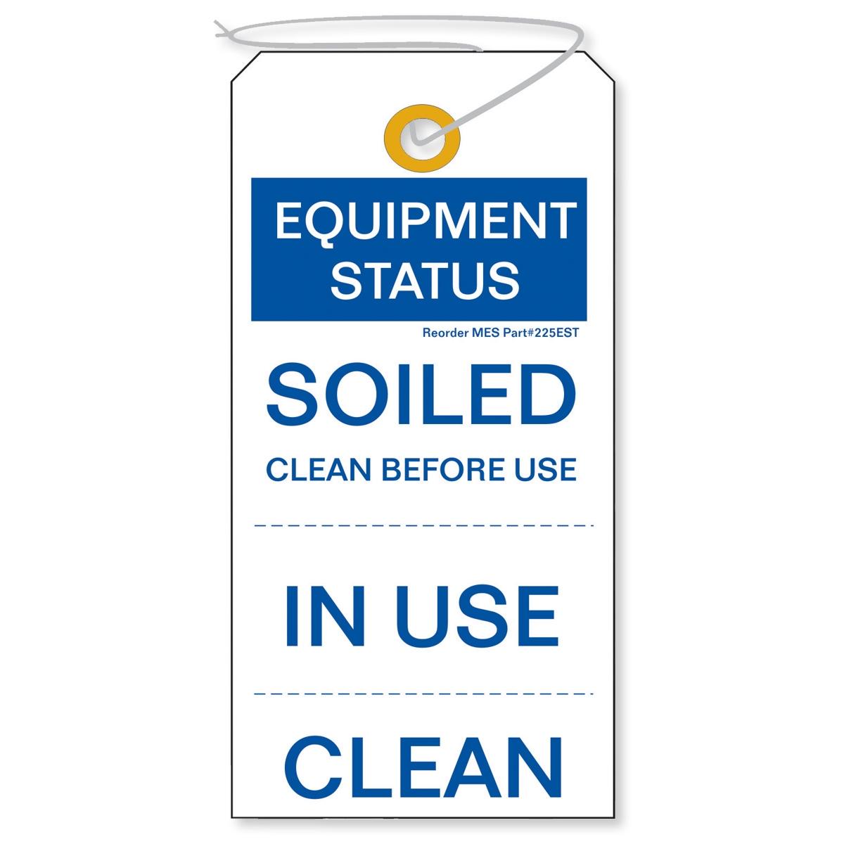 225est Equipment Status Tag 100 Pkg