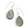Labradorite French Wire Earrings Sterling Silver