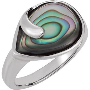 Abalone Shell Ring