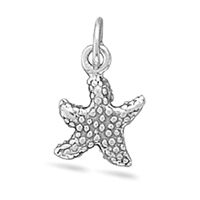 Starfish Charm Sterling Silver