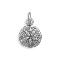 Sand Dollar Charm Sterling Silver