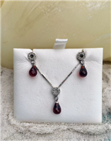 Garnet and Diamond Set
